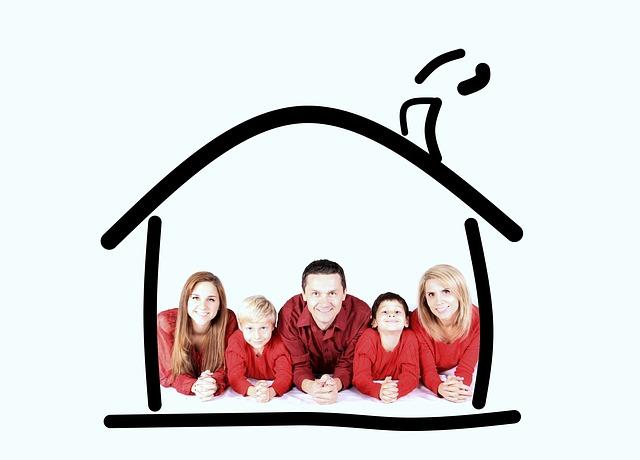 rodina v domku